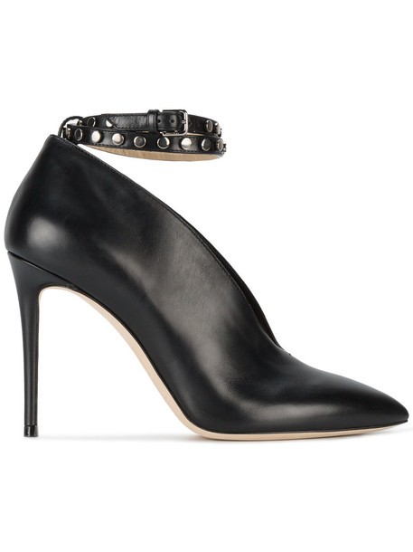 Jimmy Choo women 100 heels leather black black leather shoes