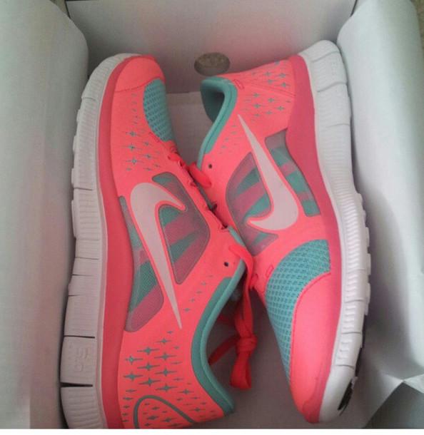 nouveaux maillots nike - Nike Free Run Teal And Coral | Laguna Honda