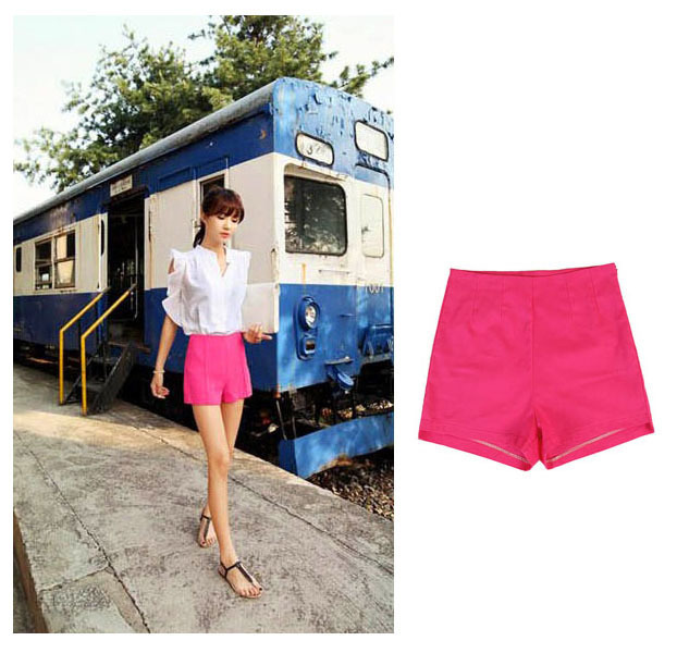 Aliexpress.com : Buy Fashion Womens Ladies High Waisted Beautiful Mini Side ZIP Black White Rose Shorts Skirt Hot Pants from Reliable women track pants suppliers on Vinky's little world