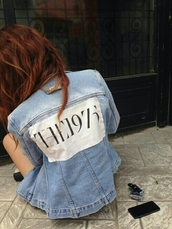 jacket,denim jacket,denim jacket vintage coat,the 1975,tumblr,tumblr outfit,tumblr jacket,tumblr girl,cute,stylish,style,trendy,fashion inspo,outfit idea,blogger,palermo.,pale grunge,grunge,grunge jean jacket,pale,grunge wishlist,alternative,on point clothing
