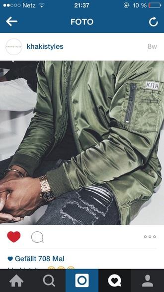 jacket green khaki bomber jacket