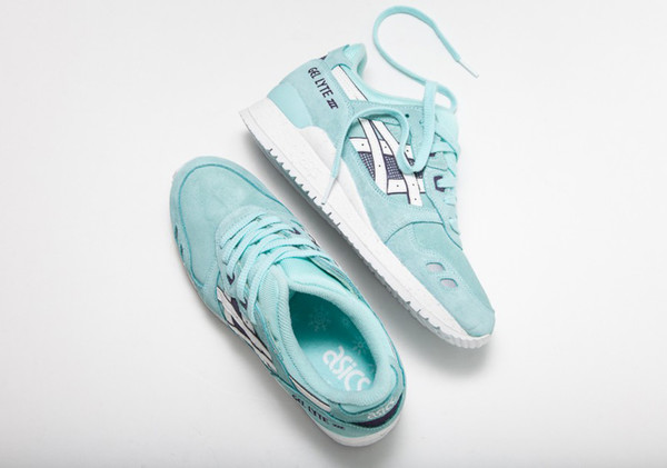 shoes aqua asics cute blue shoes grey sneakers sneakers snowflake asics gel lyte iii sport shoes turquoise sneakers pastel sneakers
