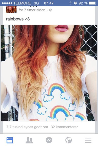 rainbow rainbow shirt le happy white t-shirt top rainbows
