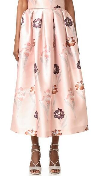 skirt floral skirt light floral beige