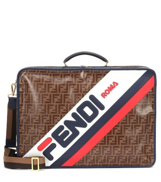 FENDI MANIA printed travel bag in brown