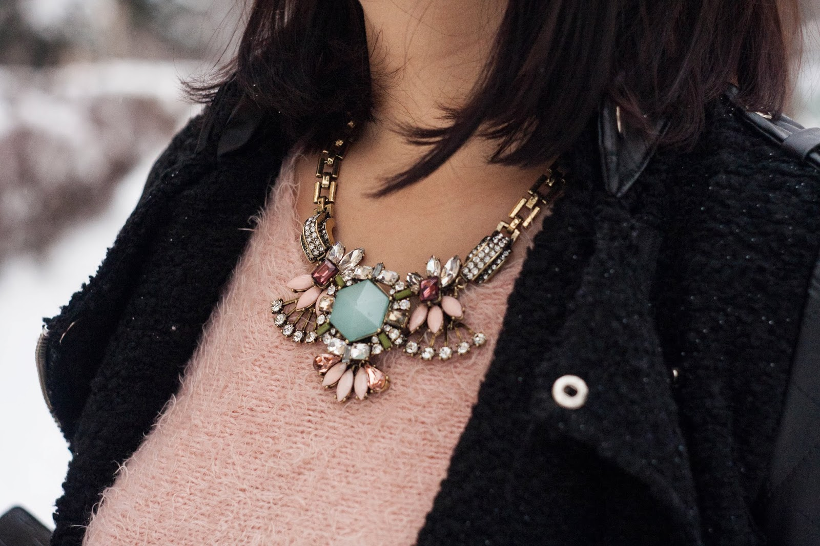 Floral Rhinestone Collar Necklace | Choies