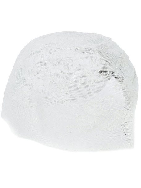 Ann Demeulemeester gathered lace hat - Green