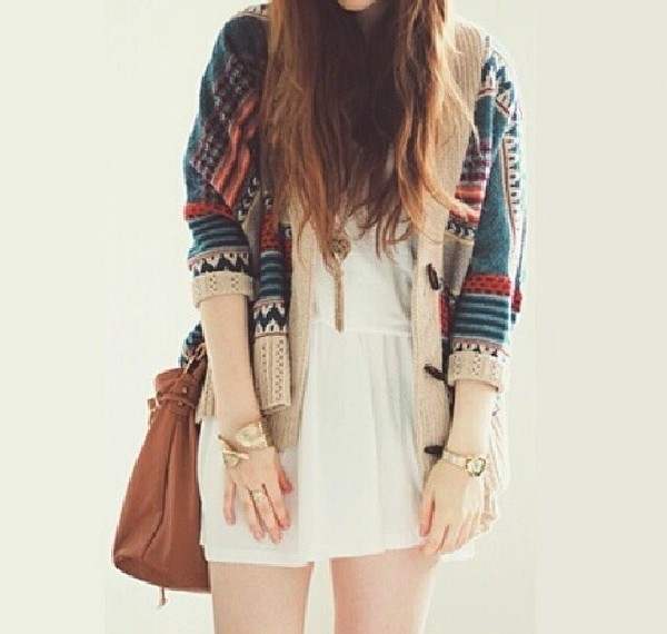 dress white dress white winter sweater cute vintage sweater soft grunge goth hipster cool hipster sweater sweater weather hipster hippie