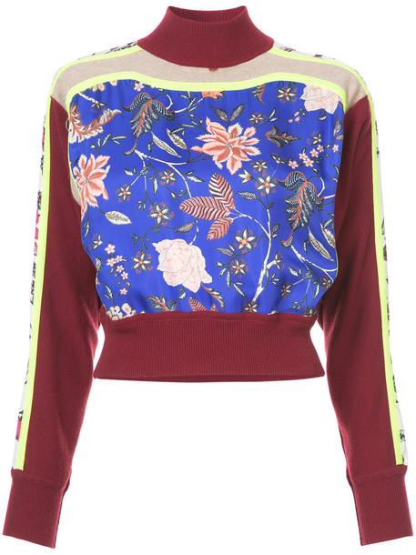 Dvf Diane Von Furstenberg jumper women floral print red sweater