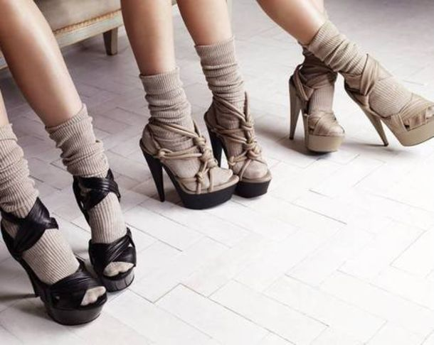 high heels buckles yellow shoes brown shoes orange shoes shoes burberry socks socks and sandals beige beige shoes black heels sandals sandal heels