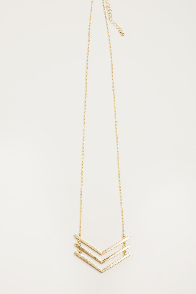 Jules chevron gold necklace