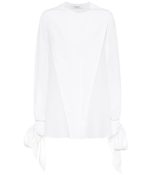Givenchy top silk white