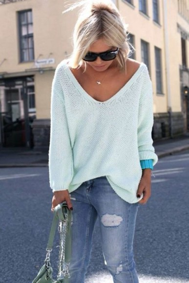 sweater oversized sweater cool beautiful wantitnow wheretoget? blue summer summer outfit