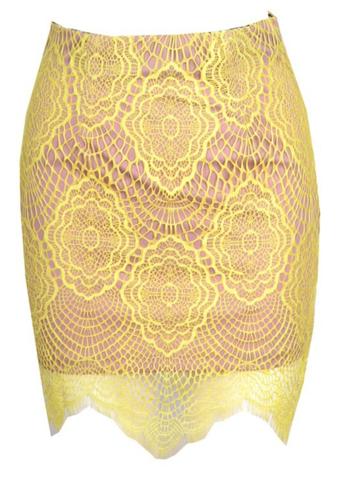 Raw Glitter | Sexy Semi-Sheer Lace Eyelash Skirt, Women's Laced Skirts | RawGlitter.com