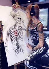 tank top,clothes,bodysuit,skeleton,goth,tattoo,jumpsuit,halloween,sexy,leggings,black,beats,monimarino,halloween costume,spandex