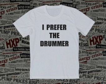 I prefer the drummer t shirt short sleeve short text unisex t