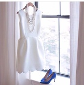 dress,white scallop,white dress,j crew,shoes,white scalloped dress,white,scalloped,scallop hem,scalloped dress,cocktail dress,sleeveless,scallops,scalloped edges,classy,graduation dress,tank top,style,elegant,pretty,cute,short dress,cute dress,wedding dress,wedding,prom dress,cocktail,girl