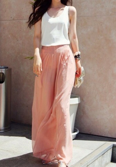 pants long maxi skirt maxi skirt nude mango
