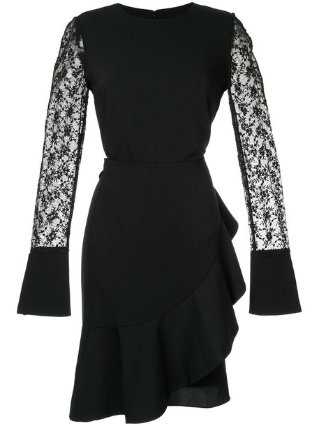 GOEN.J dress ruffle women lace cotton black