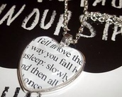 jewels,necklace,heart,the fault in our stars,fall in love,john green,love quotes