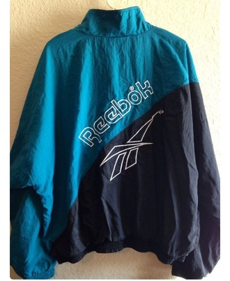 jacket reebok vintage 90s style 80s style windbreaker style