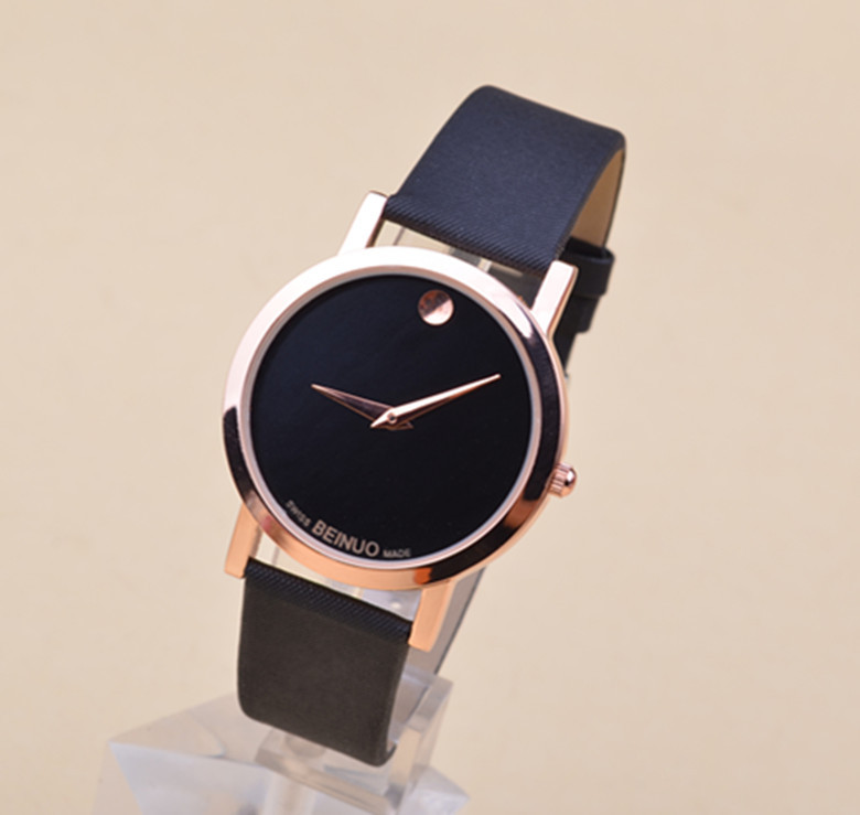 Hot sell! Fashion Gold Luxury Leather Quartz Watches wrist watch Womens men-in Wristwatches from Watches on Aliexpress.com
