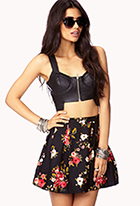 Fancy Floral Box Pleated Skirt | FOREVER21 - 2000111938