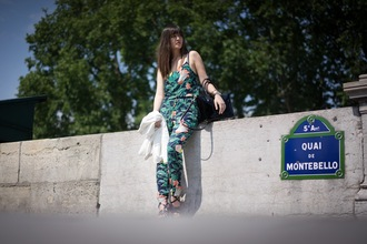 meet me in paree blogger jumpsuit tropical