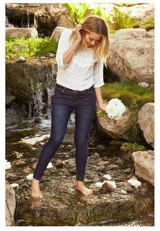 blouse lauren conrad jeans skinny jeans