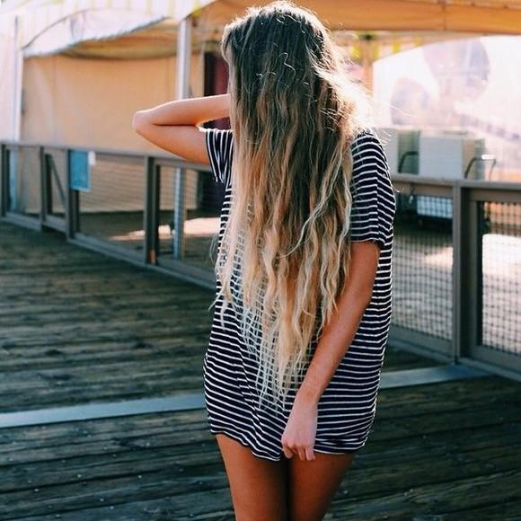 cotton striped dress