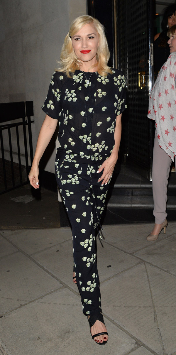 pants shoes top blouse jumpsuit gwen stefani