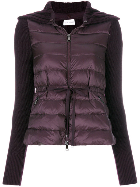 moncler jacket women wool purple pink