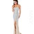 Strapless crystal encrusted full length gown - theDRESSroom