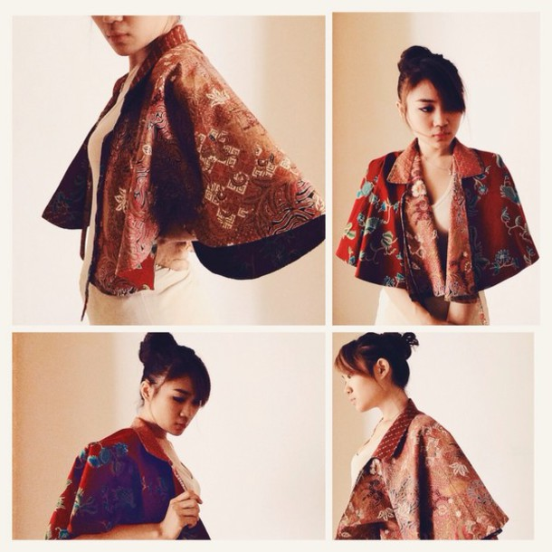 coat batik cape soka cotton print