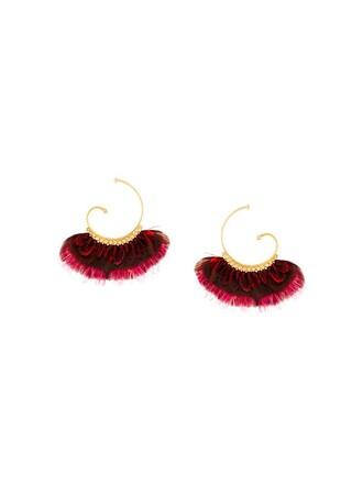 women earrings purple pink jewels