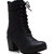 GJ | Heeled Mountaineering Boots $46.20 in BLACK CHESTNUT - Lace Up Boots | GoJane.com