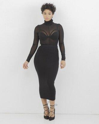 skirt black black skirt midi skirt bodycon bodycon skirt pencil skirt black pencil skirt