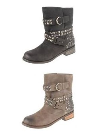 studded boots flat