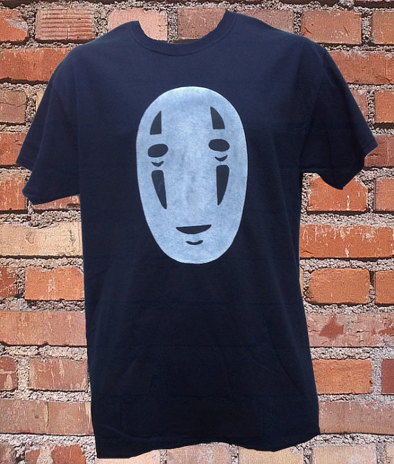 NoFace Spirited Away TShirt by HallionClothing on Etsy