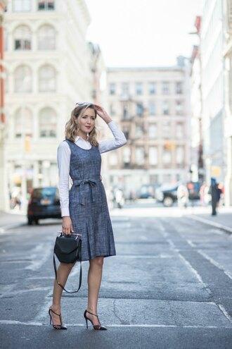 the classy cubicle blogger dress shirt shoes bag