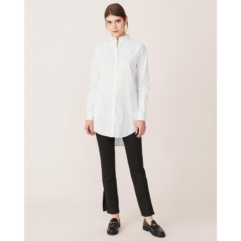 GANT: White Pinpoint Oxford Long Shirt women | GANT USA Store