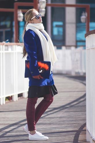 bag jacket my blonde gal blogger pants coat blouse jewels shoes sunglasses