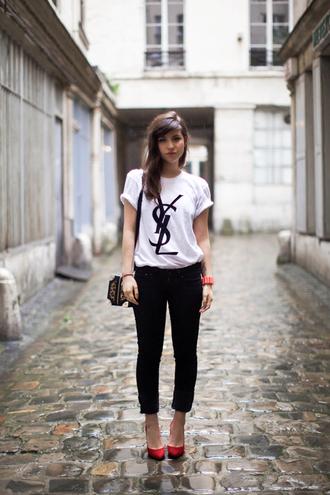 t-shirt ysl yves saint-laurent