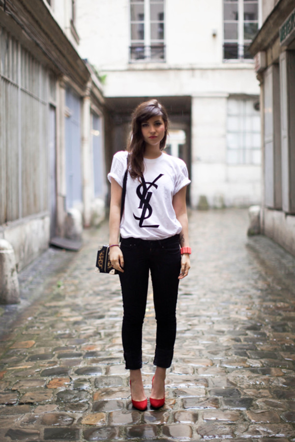 t-shirt ysl yves saint-laurent t-shirt