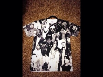 shirt tupac biggie smalls snoop dogg eminem swag hip hop