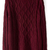 ROMWE | ROMWE Diamond Knitted Loose Burgundy Jumper, The Latest Street Fashion