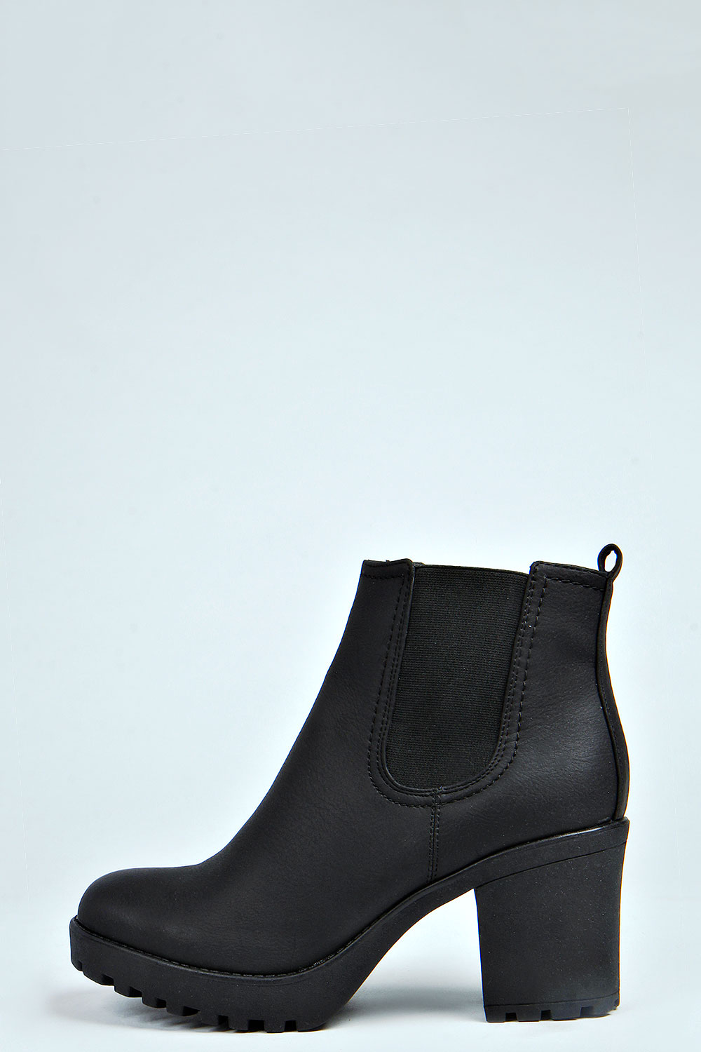 314afdd75 shoes, ankle boots, black boots, chelsea boots, boots, cleated sole, high  heels, style, hipster punk, chunky, high, heeled, ankle boots, chelsea boots,  ...
