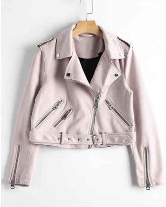 jacket girly leather leather jacket biker jacket zip zip up jacket pink
