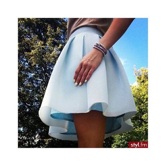 baby blue light blue skirt blue skirt skater skirt tumblr skirt tumblr tumblr girl instagram tumblr clothes pastel pastel color pastel dress
