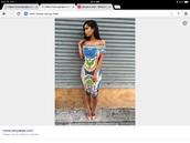 dress,multicolor,bodycon dress,tribal pattern,aztec,midi dress,off the shoulder,blue,lime,peach